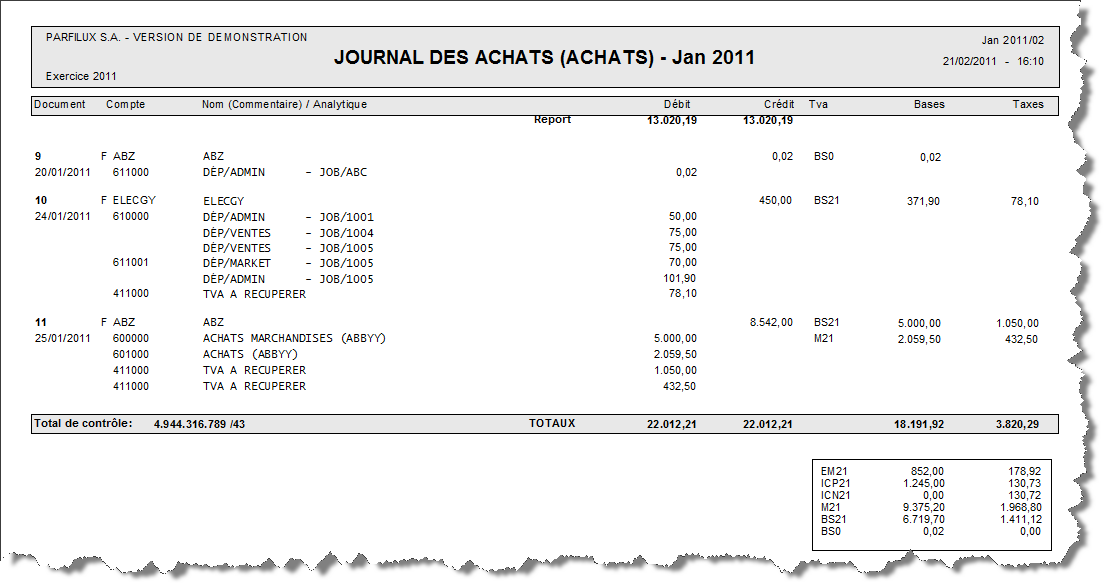 Journaux comptables avec analytique - Help On line ...