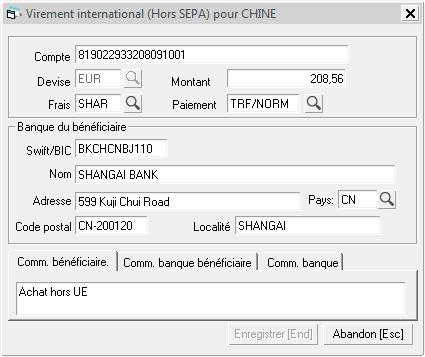 Informations Complementaires De Paiement Hors Sepa Help On Line